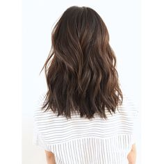Brunette Medium Length Blunt Layers