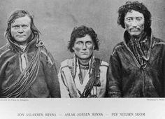 Portrett av Jon Aslaksen Mienna, Aslak Jonsen Mienna og Per Nielsen Skom.