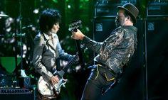 Joan Jett and Krist Novoselic of Nirvana