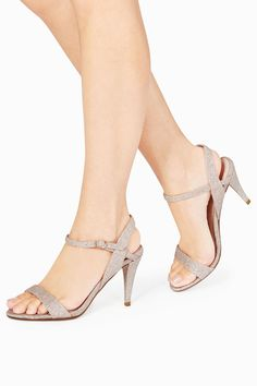 a8aefb42cfd Buy Shimmer Barely There Sandals from the Next UK online shop