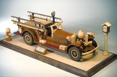 Woodworking plan for a firetruck in wood
