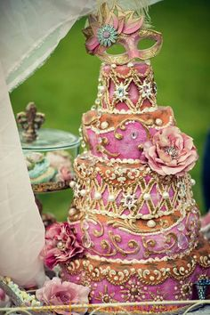 Pink Rococo Inspired Cake