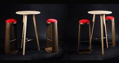 Atelier Design Masnada - Bureau d'étude spécialisé dans la création de mobilier sur-mesure. Les pièces sont fabriquées dans un atelier en Haute Savoie Hall Deco, Atelier Design, Bar Stools, Creations, Furniture, Home Decor, Deco Salon, Bespoke Furniture, Desk