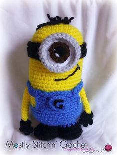 PLEASE NOTE YOU ARE NOT PURCHASING A FINISHED ITEM!!!!!!!!!!  NO REFUNDS WILL BE ISSUED ONCE THE PATTERN IS SENT  Who doesn't love to have a few Minions around! They are sweet, loveable, and they do your bidding...... This pattern includes all the instructions needed to make both Minions pictured.  Pattern is written in English, using US crochet terminology. I included detailed instructions, many step-by-step photos and useful tips and notes. Includes; One PDF file, 10 pages.  Size: 8 inches…
