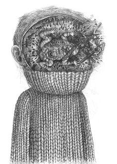 SPAWN . Pencil on paper - Stefan Zsaitsits.