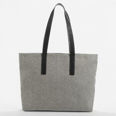 The Twill Zip Tote - Everlane, Navy + Black leather, or Reverse denim