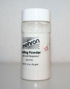 Colorset Loose Powder Mehron makeup setting seal stage cosmetic clown face paint #Mehron
