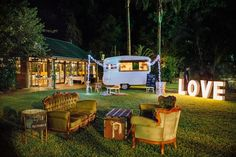 Gathering Vintage Caravan Bar | Perfect for weddings + events | Available for hire in Brisbane, Gold Coast, Sunshine Coast and Byron Bay!