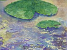 Original  Painting Lily Pads by JanellBennettFineArt on Etsy