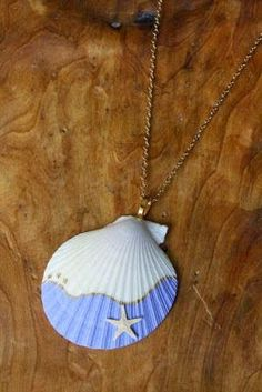 Do it yourself ideas and projects: 50 Magical DIY Ideas with Sea Shells - DIY Seashell Painting, Seashell Art, Seashell Crafts, Painting On Shells, Seashell Wind Chimes, Seashell Projects, Mermaid Crafts, Driftwood Projects, Driftwood Art