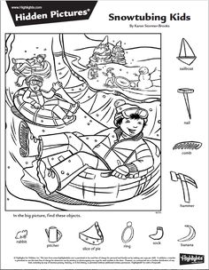Craft Activities For Kids, Worksheets For Kids, Colouring Pages, Coloring Books, Hidden Pictures Printables, Dyslexia Activities, Hidden Picture Puzzles, Hidden Objects, Find Objects