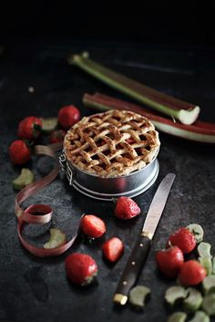 While I am enjoying autumn I'm a little bit down because I can't make this pie; rhubarb season is over.