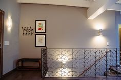 Curating artwork for a Mid-Century Modern home. Esty shop Thedor, Eames Hang-it-All, Charley Harper artwork, custom home drawing, Ikki Matsumoto print, Roger Tory Peterson print, oil painting