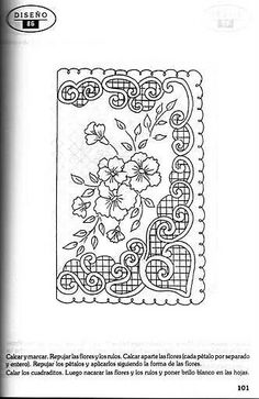 T T floral cross hatched border