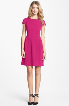Eliza J Seamed Double Knit Crepe Fit & Flare Dress available at #Nordstrom