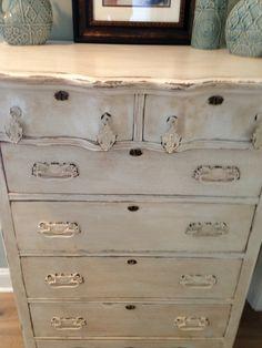 Dresser distressed chalk painted & dark wax