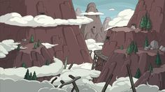 Adventure Time Season 3 Background Art
