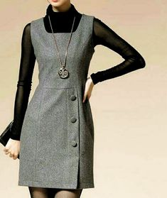 Simple Dresses, Cute Dresses, Casual Dresses, Dresses For Work, Chic Outfits, Dress Outfits, Hijab Fashion, Fashion Dresses, Apparel Design