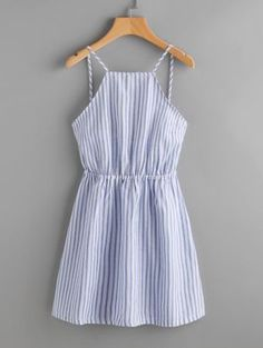 Shop Striped Cut Out Bow Tie Open Back Cami Dress online. SheIn offers Striped Cut Out Bow Tie Open Back Cami Dress & more to fit your fashionable needs. Trendy Dresses, Cute Dresses, Trendy Outfits, Casual Dresses, Cool Outfits, Summer Dresses, Long Dresses, Sparkly Dresses, Sleeveless Dresses