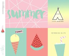 Summer Project Life Card freebie