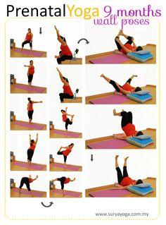 My Surya Yoga Baby: Prenatal Yoga Practice - 9 months Pregnancy First, Pregnancy Trimesters Pregnancy Yoga Poses, Exercise During Pregnancy, Pregnancy Health, Pregnancy Care, Early Pregnancy, Baby Workout, Prenatal Workout, Pregnancy Workout, Pregnancy Fitness