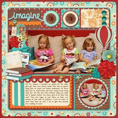 Scrapbook, want to do a page like this for Adalyn since she loves books!