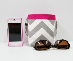 Hey, I found this really awesome Etsy listing at https://www.etsy.com/listing/155127463/car-cellphone-caddy-gray-chevron