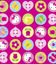 Sanrio Hello Kitty Polka Dot Ultra Cuddle Fleece FabricSanrio Hello Kitty Polka Dot Ultra Cuddle Fleece Fabric,