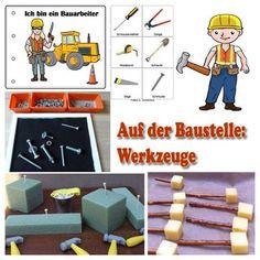 : Under construction: tools ideas kindergarten - Geburtstag Construction Tools, Under Construction, Kindergarten Portfolio, Reggio, Montessori, Arno, Ideas, Childcare Rooms, Bob The Builder