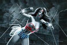 Wonder Woman by Greg Hildebrandt Linda Carter, Wonder Woman Art, Fight For Justice, Justice League, Superman, Comic Art, Joker, The Incredibles, Marvel