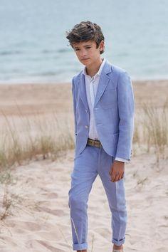 Americana Luca Trendy Boy Outfits, Boys Summer Outfits, Summer Boy, Baby Boy Outfits, Blue Blazer Outfit, Blazer And Shorts, Young Boys Fashion, Teen Boy Fashion, Boys First Communion Outfit