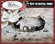Charm Bracelets & Bookmark Gift Sets If Ye Love Me Keep My | Etsy Charm Bracelets, Charm Jewelry, Jewelry Gifts, If Ye Love Me, My Love, Pillow Treats, Young Women Values, Secret Sister Gifts, Personal Progress