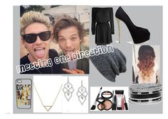 """""""Meeting One Direction"""" by jensencaitlin0322 on Polyvore featuring Designers Remix, Giuseppe Zanotti, GUESS, Banana Republic, Stephen Webster and Laura Geller"""