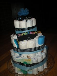 Ty's shower diaper cake