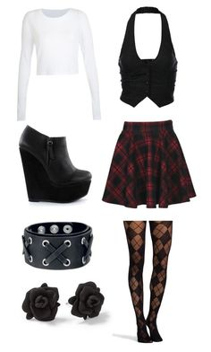 """""""Untitled #179"""" by ticci-toby ❤ liked on Polyvore featuring Pretty Polly, Boohoo, J.TOMSON, Nly Shoes and Marc by Marc Jacobs"""