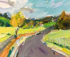 """Time to head into the countryside again... I love exploring around the back roads on the #south #coast! """"Landscape Near Jamberoo"""", 35X45cm #landscapepainting #artoftheday #Jamberoo #inspiration"""