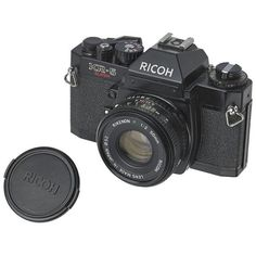 Vintage Ricoh KR-5 35mm Camera ($149) ❤ liked on Polyvore featuring home, home decor, decorative objects, vintage home decor and vintage home accessories