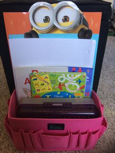 I store my kids favorites books and crayons with our Stuff It