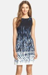 Vince Camuto Print Ponte Shift Dress