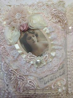 fabric art journal - lace - Beautiful