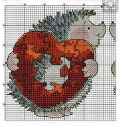 "Photo from album ""схемы вышивок"" on Yandex. Cross Stitch Pillow, Cross Stitch Pictures, Cross Stitch Heart, Counted Cross Stitch Patterns, Cross Stitch Designs, Cross Stitch Embroidery, Embroidery Patterns, Hedgehog Cross Stitch, Cross Stitch Animals"