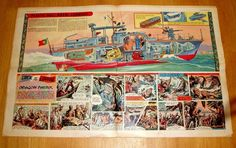 EAGLE CHRISTMAS ISSUE 1959 WITH PLASTIC HULL NAVAL GUNBOAT CUTAWAY DRAWING | eBay