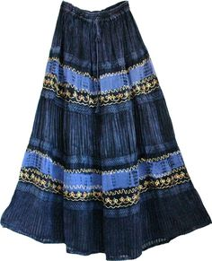 bohemian skirt | Mirage Womens Long Skirt at Ethnic bohemian Long Skirts and bags