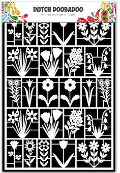 472.948.021 Dutch Doobadoo Paper Art A5 Flowers
