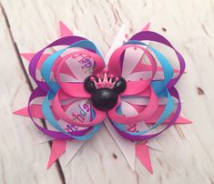 A personal favorite from my Etsy shop https://www.etsy.com/listing/599791915/minnie-mouse-hairbow-minnie-birthday
