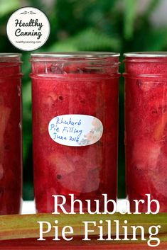 Canned Rhubarb Pie Filling - Healthy Canning Canning Tips, Home Canning, Rubarb Pie, Rhubarb Recipes, Fruit Recipes, Canned Food Storage, Pressure Cooker Recipes, Pressure Cooking