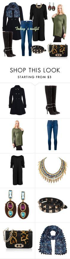 """My outfit today"" by aniri310 on Polyvore featuring Miss Selfridge, Valentino, Pilot, Frame Denim, Lyla Loves, Oscar de la Renta, Rebecca Minkoff, Jigsaw, women's clothing and women"