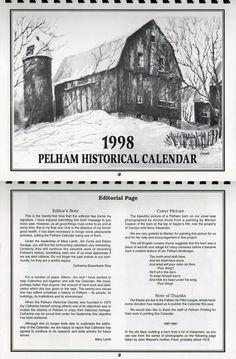 Pelham Historical Calendar 1998 - Painting by Marilyn Casson
