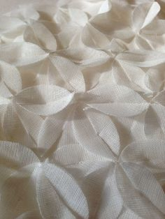 Fabric Manipulation - floral applique for white texture; sewing inspiration; textiles design // Gabrielle Miller