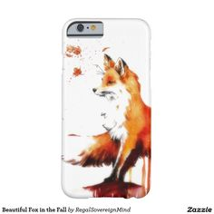 Beautiful Fox in the Fall Barely There iPhone 6 Case